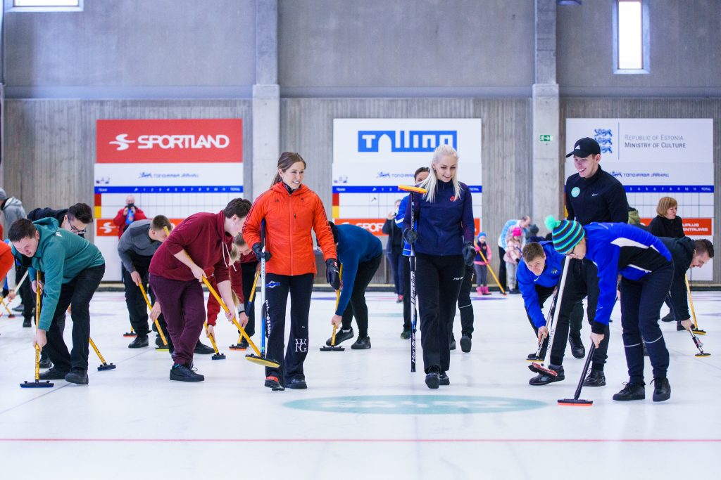ice curling in Tallinn